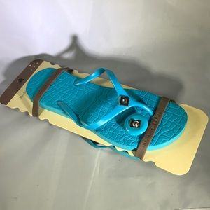 Lindsay Phillips Turquoise Blue Sandals Size 7